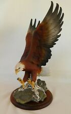 Homco 1986 Majestic Wings Bald Eagle Masterpiece Figurine signed w/stand