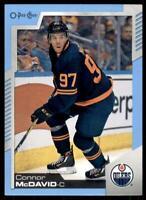 2020-21 UD O-Pee-Chee Blue Border #33 Connor McDavid - Edmonton Oilers