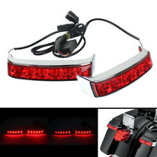 Red Lens Saddlebag LED Tail Run Brake Turn Light For Moto Street Glide 2014-17