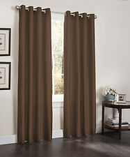 TWO BLACKOUT ROOM WINDOW CURTAINS, 55x84, LINED HEAVY THICK PANEL, ERIN, FUCHSIA