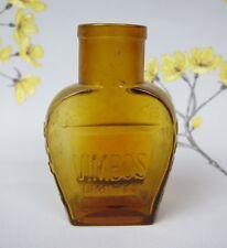 Antique VIMBOS Limited LONDON EDINBURGH brown glass MEAT EXTRACT BOTTLE. 9 cm