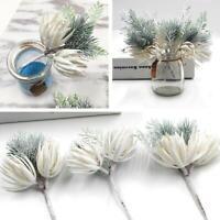Christmas Artificial Flowers Pine Flower  DIY  Wedding Party Xmas Home Decor