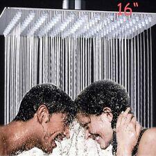 "Ultrathin Square 16"" Stainless Steel Rain Shower Head Wall/Ceiling Top Sprayer"