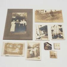 Antique Lot of 9 Sepia Black & White Photographs