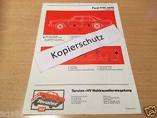 Ford Taunus 17 M - 20 M ab Sept. 1968 - Terotex Hohlraumversiegelungsplan