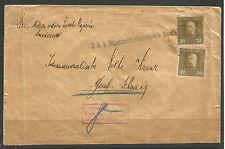 Austria/Serbia. WW1. 1917. Copertina censurata semendria per la Svizzera. Militare P