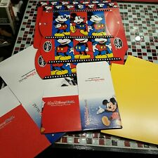 LOT OF 10 ~ Disney Store World Mickey Mouse Gift Boxes Box Disneyland Wrapping