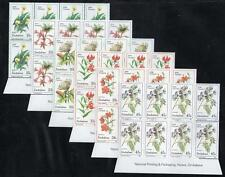 ZIMBABWE MNH 1989 Wild Flowers Imprint Block of 8