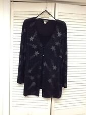 Slinky Black LS 2 in 1 Shirt with Bling, Sz. 1X, Impressions, EUC!