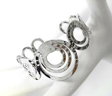 GORGEOUS Urban Artisanal Silver Hammered Texture Rings Cuff Bracelet