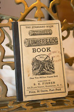 1923 SCRIBNER'S LUMBER & LOG BOOK Saw Mill/Farmer/Forester S.E. Fisher