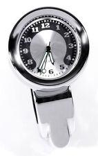 Reloj de manillar Metal molido CROMO Big F. HARLEY DYNA RELOJ GRAN ESFERA 30mm