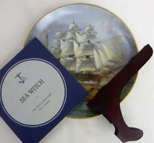 "Great Clipper Ships Sea Witch Plate Franklin Porcelain 9"" Original Box Pearce fr"