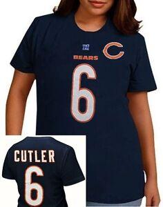 Chicago Bears Jay Cutler #6 NFL Her Catch Navy Blue Womens Shirt Plus Sizes