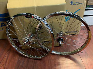 HARO LINEAGE HPF WHEEL SET 48 CHROME SEALED WHEELS PEREGRINE SUPER PROS HP RETRO