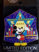 Disney Pin DLR Happy Hanukkah 2003 Mickey Le1500 Authentic htf 049