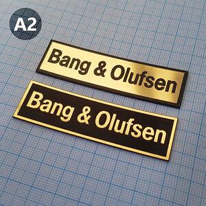 2 x Bang & Olufsen - METALLIC Case Sticker Badge -  70 mm / 20 mm