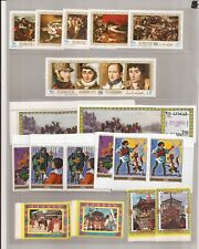 AJMAN-4 groups of stamps/topics- many imperfs ( MNH)
