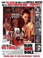 Black Devil DOll Poster 03 Metal Sign A4 12x8 Aluminium