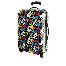 Disney Parks Mickey Mouse Pop Art Luggage 26''' New