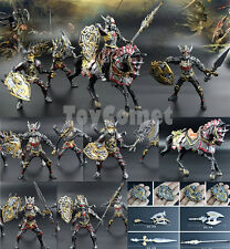 5 pcs Dragon Knight Warrior Horse Medieval Toy Soldier Action Figures Playset