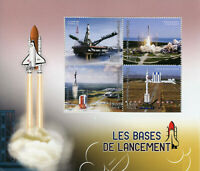 Madagascar 2018 MNH Launch Bases Cosmodrome Cape Canaveral 4v M/S Space Stamps