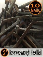 """(10) 2"""" - Decorative Wrought """"PATINA"""" Rose Head Nails - Square Wrought head - 6d"""