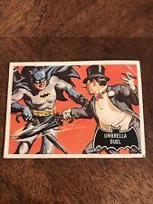 Vintage 1966 Batman Trading Card #23 Umbrella Duel