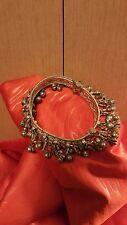 Vintage Ethnic Tribal Old Silver Anklet Bracelet Belly Dance Rajasthan India