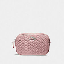 NWT COACH F73384 Leather Convertible Belt Bag With Quilting - Carnation Pink