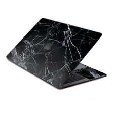 """Skin Decal Wrap for MacBook Pro 13"""" Retina Touch  Black Marble Granite White"""
