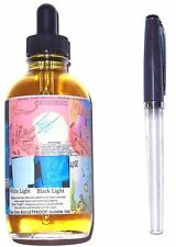 NOODLERS Fountain Pen Ink Bottle w/ Eye Dropper & Pen- 4.5oz BLUE GHOST