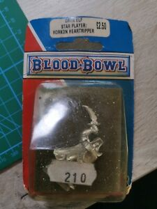 Blood bowl NAF Blister 1994 - Star Player Dark Elf HORKON HEATRIPPER
