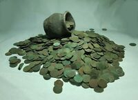 150pcs.Europian ( Uncleaned ) copper coins 1660-66 years Solid Poland,Lithuania
