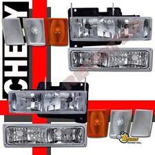 92-93 Chevy Blazer Suburban CK 1500 2500 Headlights Bumper Signal + Corner Light