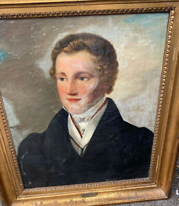 Josef Joseph Lavos 1807-1848 Oil Painting Portrait Man Vienna Dress Coat HELP ??