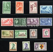SARAWAK 1955 SG 188-201 SC 197-211 VF OG MLH COMPLETE SET 15 STAMP