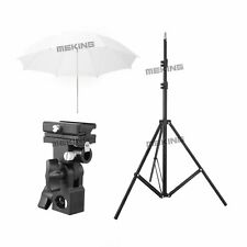 "2m Light Stand +33""White Reflector Umbrella For Studio Flash Photography Set Kit"