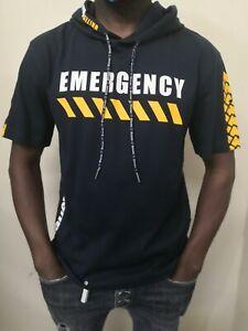 BLAUER t-shirt estiva con cappuccio mezza manica logo 100% originale da uomo
