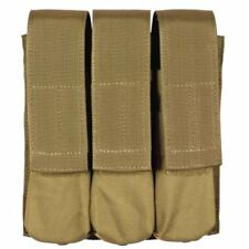 Bulle Tan MOLLE Webbing Tactical Triple SMG MP5 Mag Pouch Utility Pocket