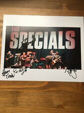 The Specials band hand signed autograph on 8x10 photo IP Terry Hall, John etc