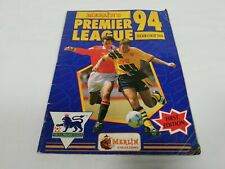 Preowned Merlins Premier League 94 Sticker Book 100% Complete