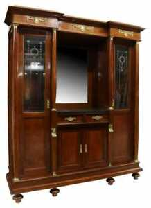 Antique Sideboard, Display, French Empire Style Ormulu Mahogany, 18-1900's!