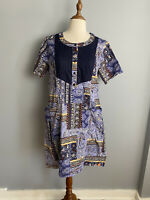 Rodeo Heritage Womens Size XL Boho Dress Short Sleeves