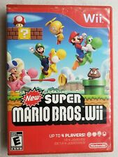 New Super Mario Bros. Wii Case and Manual Only NO GAME Nintendo 2009