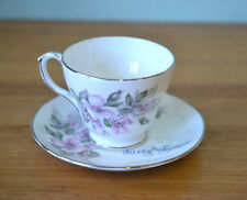 Vintage  Duchess Gillian  teacup  & saucer  teaset bone china silver anniversary