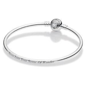 Pandora Sterling Silver Aladdin and Jasmine retired Disney bangle bracelet
