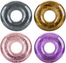Glitter Filled Inflatable Swim Ring Assorted colour
