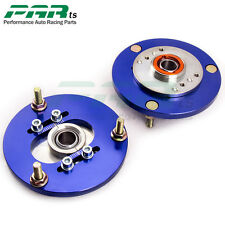 Coilover Camber Plate Pair Fits BMW E46 320 323 325 328 M3 Front Top Mount Blue