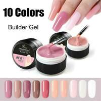 UV Gel Builder Base Gel 15Ml Nail Art Tips French Manicure 8 Colors